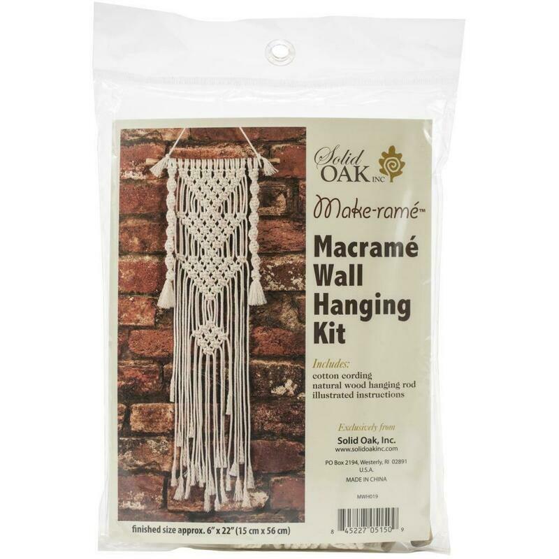 Three Triangles Macrame Wall Hanging Kit