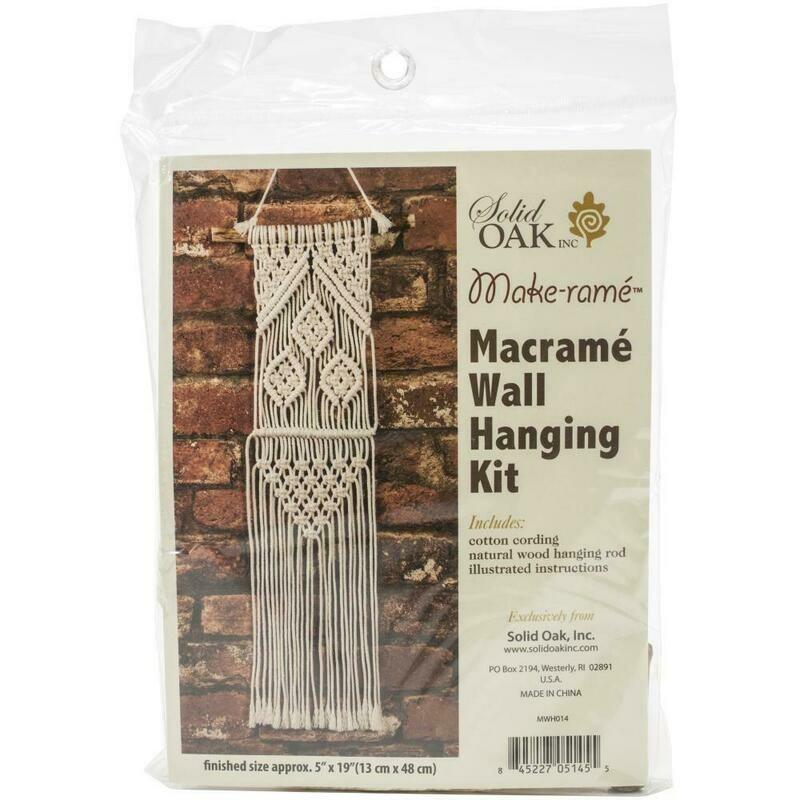 Three Leaves Macrame Wall Hanging Kit