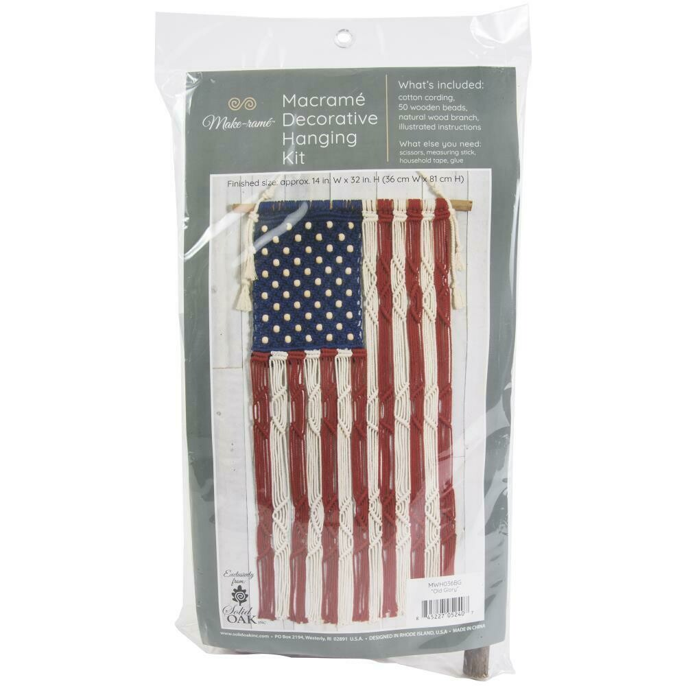Old Glory Macrame Decorative Hanging Kit