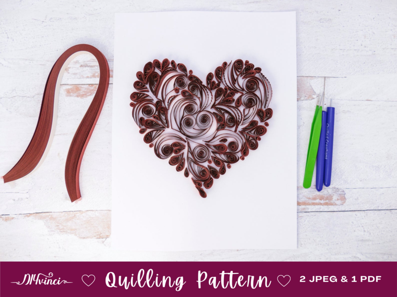 Heart Quilling Pattern