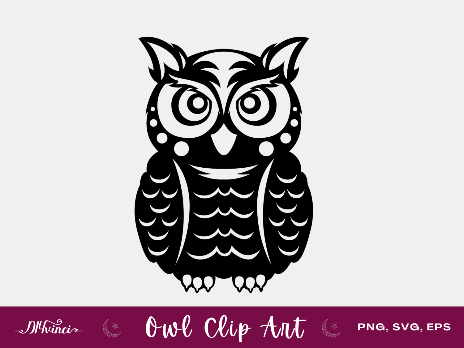 Owl Clip Art - PNG, SVG, EPS - Personal & Commercial Use
