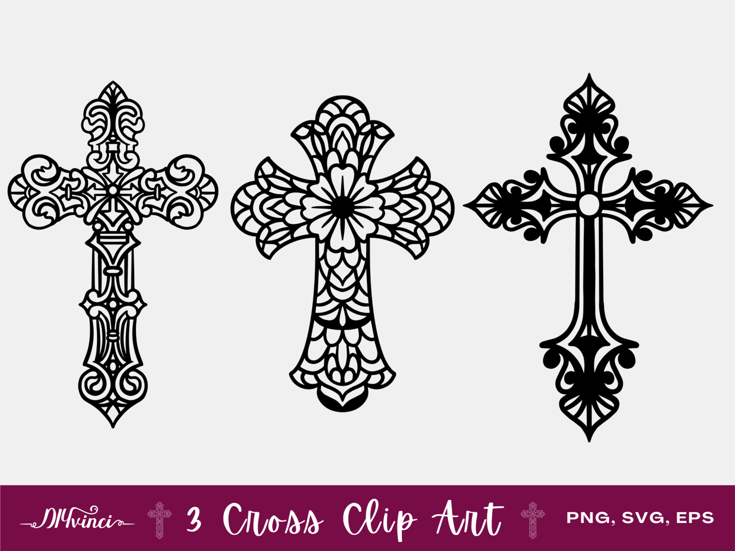 3 Cross Clip Art - PNG, SVG, EPS - Personal & Commercial Use