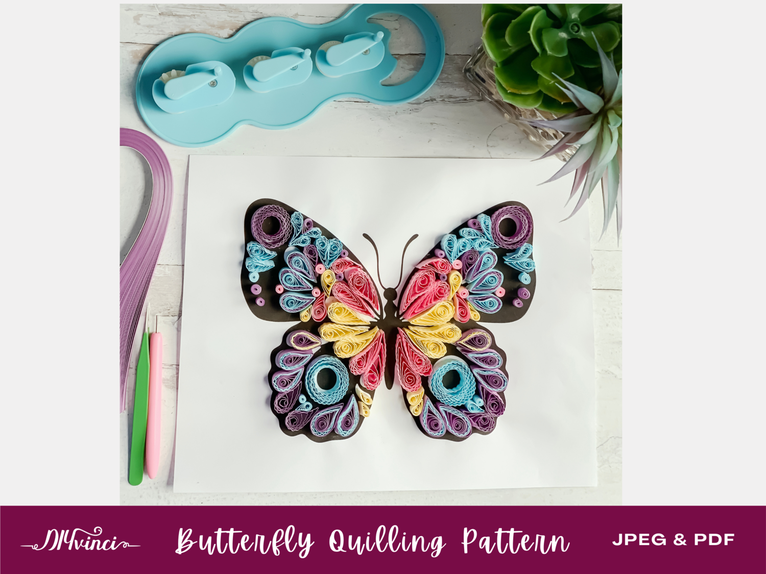 Butterfly Quilling Pattern