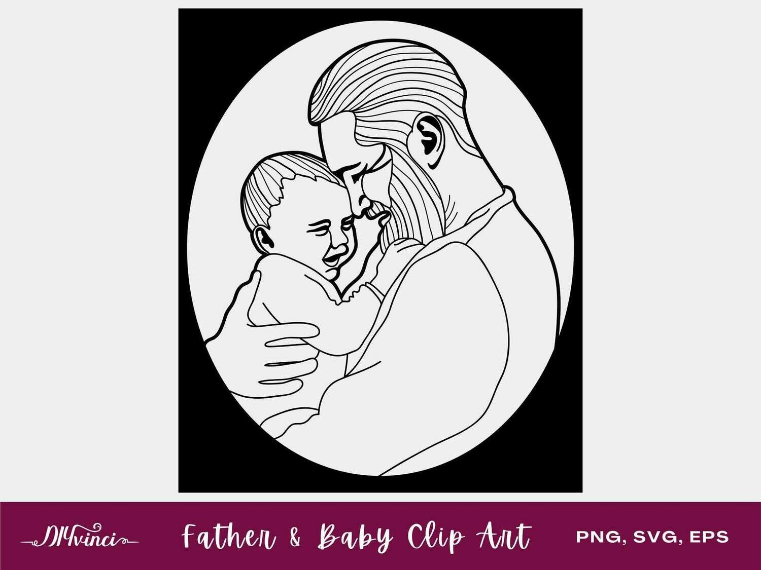 Father and Baby Clip Art - PNG, SVG, EPS - Personal & Commercial Use