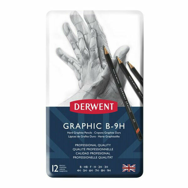 Derwent Hard Graphite Pencil Set 12 pc B-9H