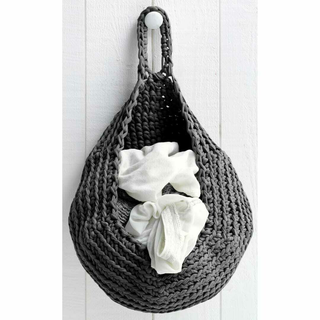 Hoooked Zpagetti yarn kit- Storage Bag- Anthracite (Dark Gray)