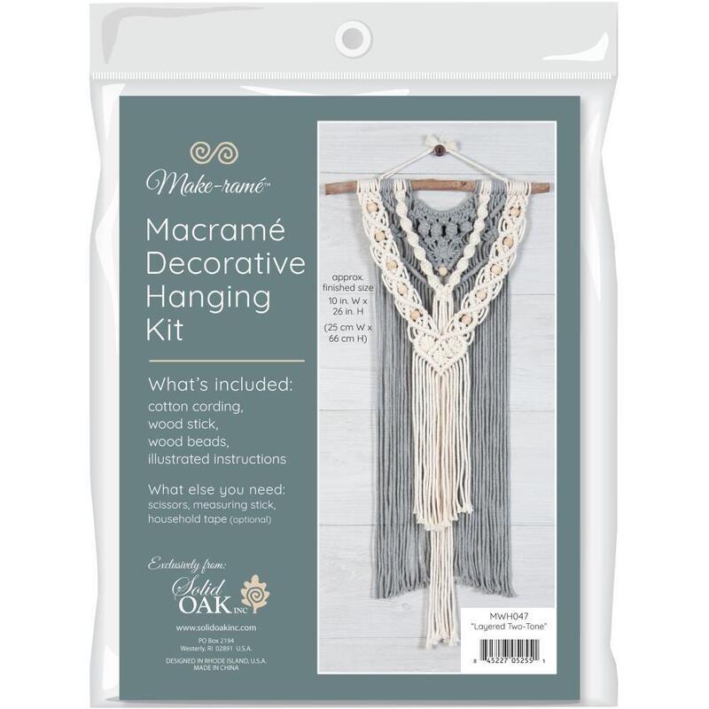 Solid Oak Macrame Kit - Layered Two-Toned