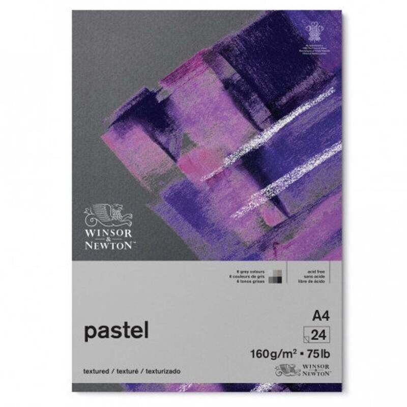 Winsor & Newton Pastel Paper Pad - 6 Grey colors - 24 sheets