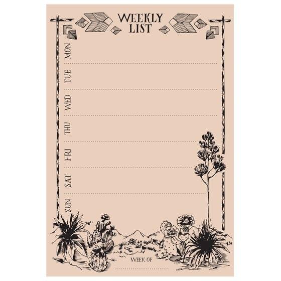 Weekly List Pad