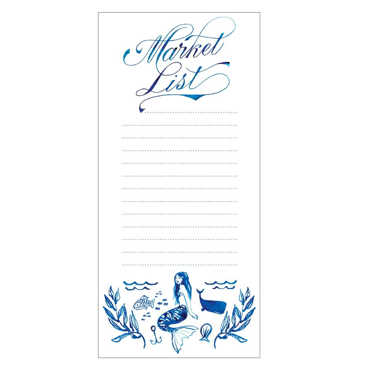 Mermaid Weekly List Fridge Pad