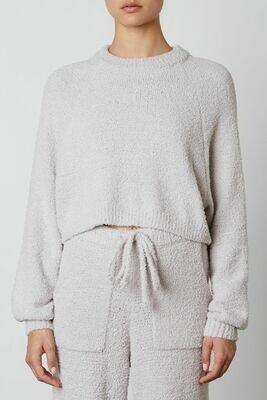 NIA - cropped raglan sweater in Dove