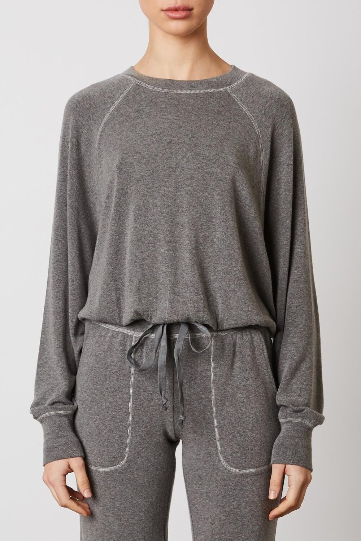 NIA - contrast stitch raglan pullover