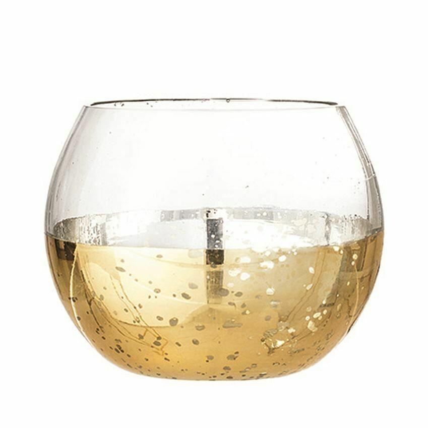 golden glass tealight