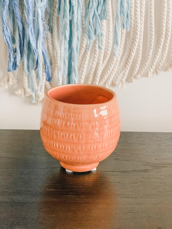 Textured Stoneware Pot - Terracotta