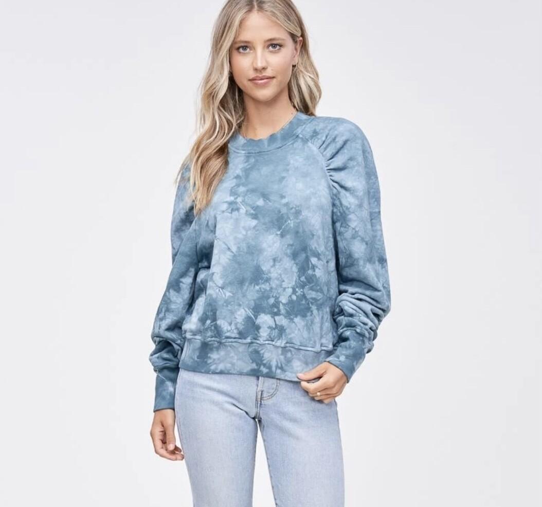 Emory Park - tie dye puffed sleeve sweatshirt