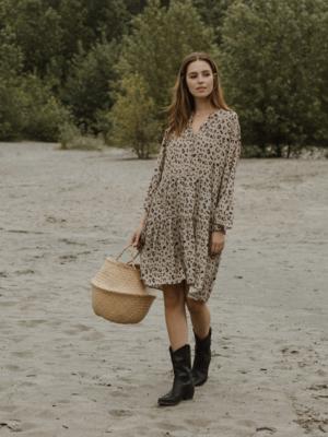 Jackson Rowe - Malad Dress in Leopard Print