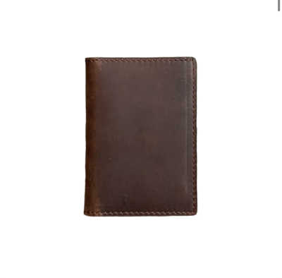 The Whiskey Wallet in Coffee