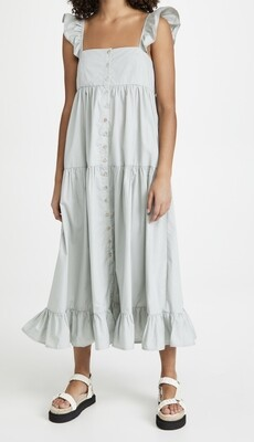 En Saison - Tiered Midi Dress with Flutter Sleeves
