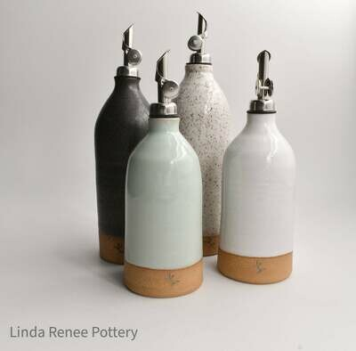 Short Olive Oil Cruet - By Linda Renee Pottery