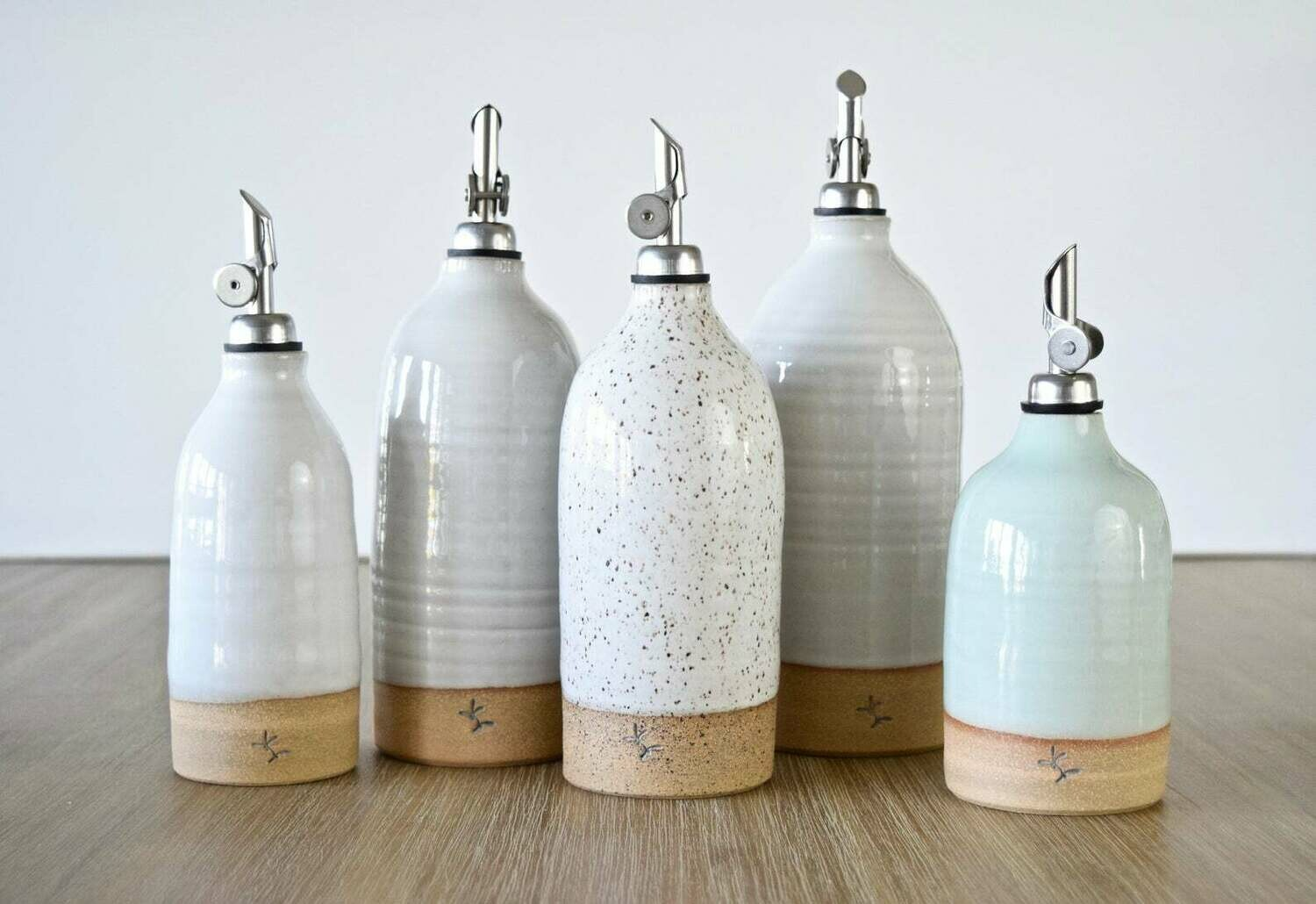 Extra Tall Olive Oil Cruet-By Linda Renee Pottery
