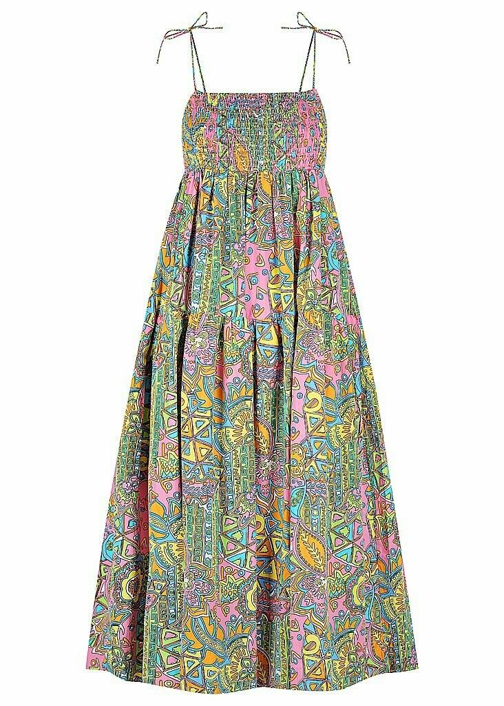 S/W/ F-  A Line Dress in Hacinda