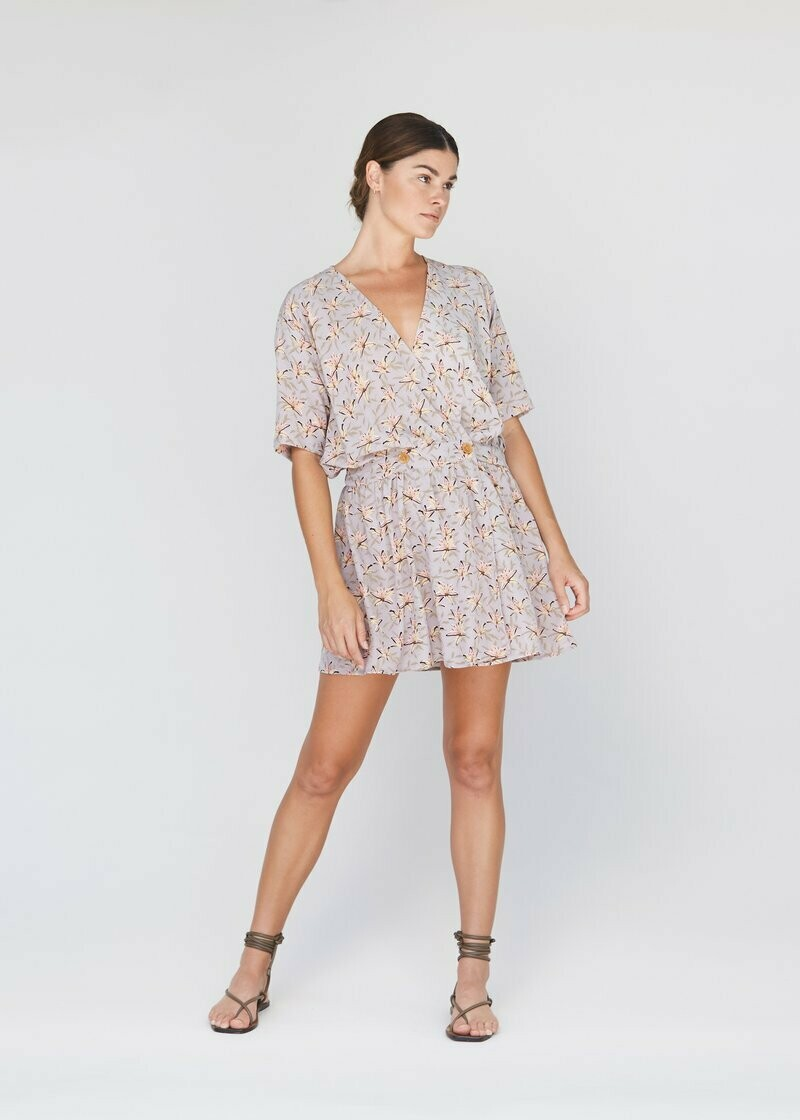 acacia - rome cupro dress in lily