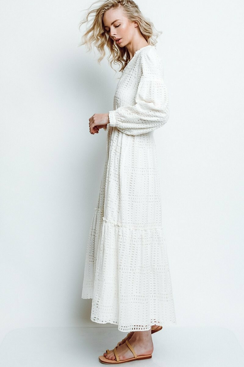 Monte - Cassandra Dress in Milk Punch