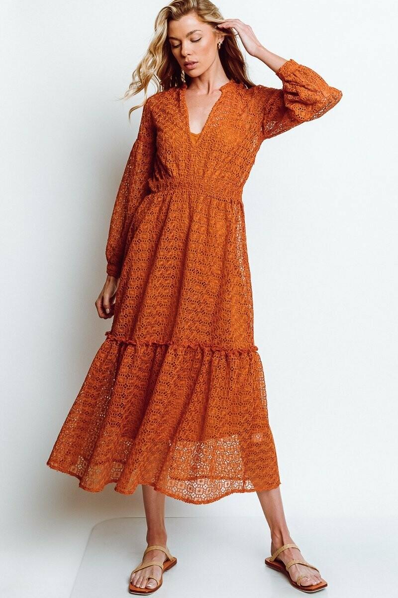Monte - Cassandra Dress in Chai