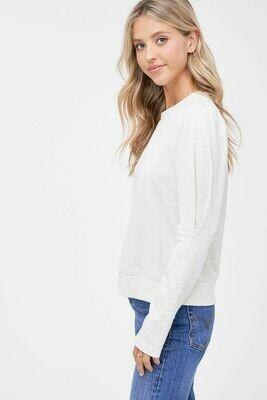 En Saison - Puff Sleeve French Terry Sweatshirt