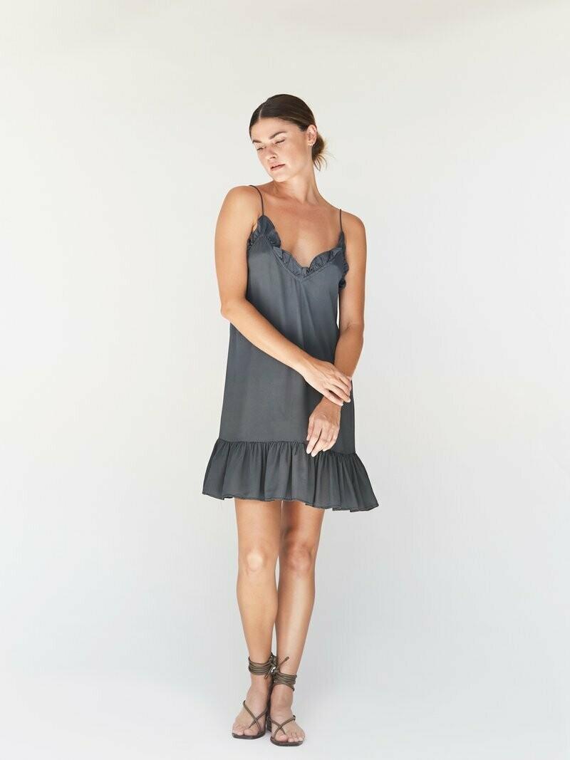 ACACIA - Mila Cupro Dress in Slate