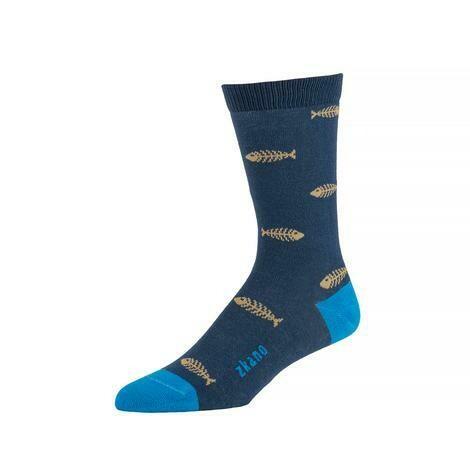Zkano Men's Socks - Oscar in Navy