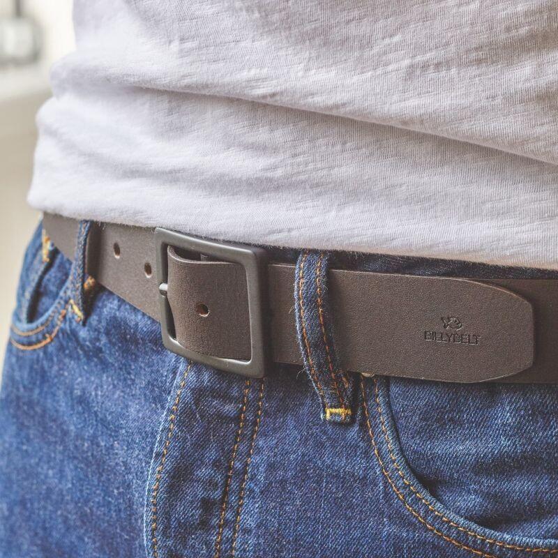 Billy Belt - Dark Brown Leather Belt