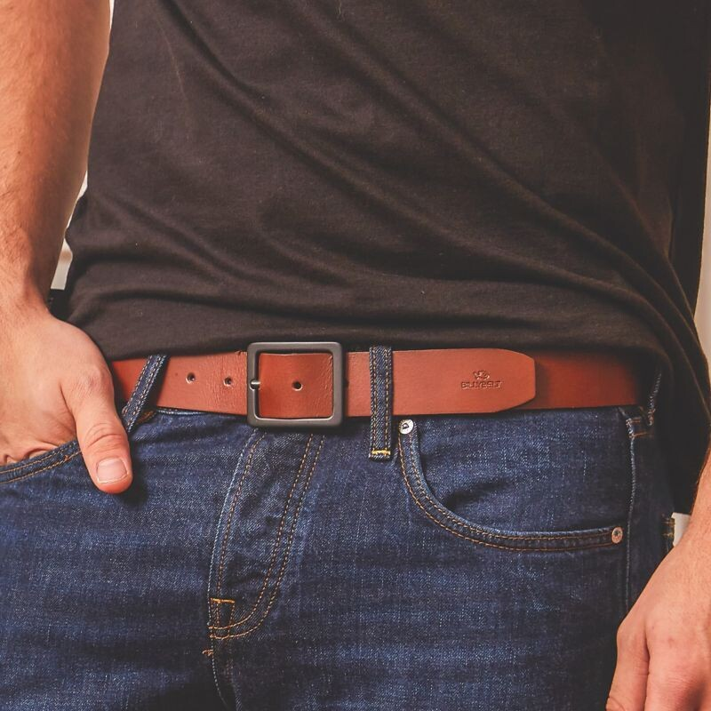 Billy Belt - Cognac Leather Belt
