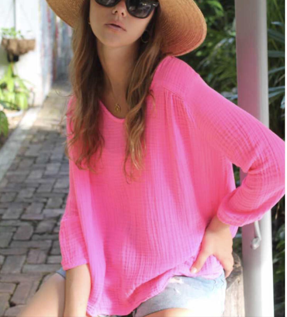 Felicite _ Venice Hot Pink Top