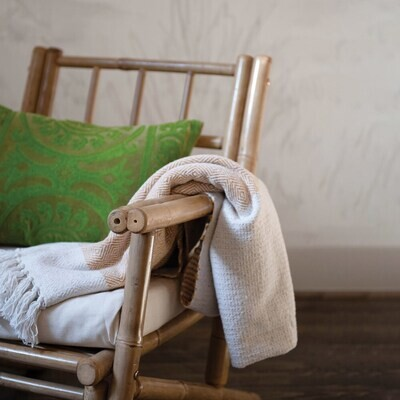 Recycled Cotton Blend Throw