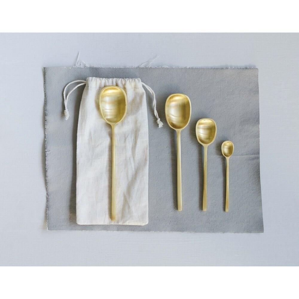 Brass Spoon Set - 4 sizes