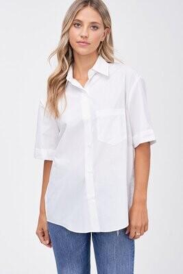 En Saison - Paige Poplin Camp Shirt