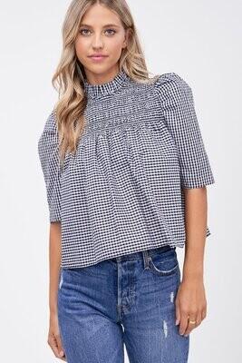 En Saison - Edith smocked blouse