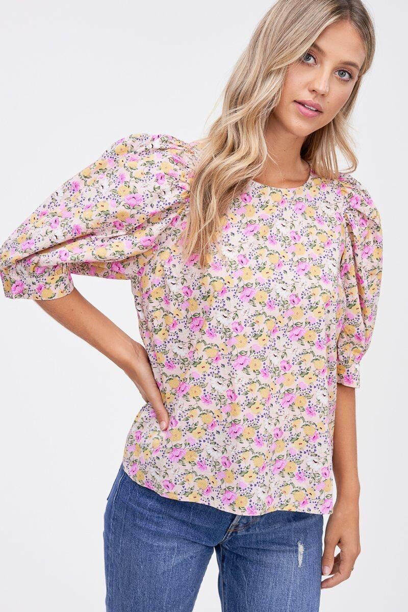 En Saison - cotton floral top