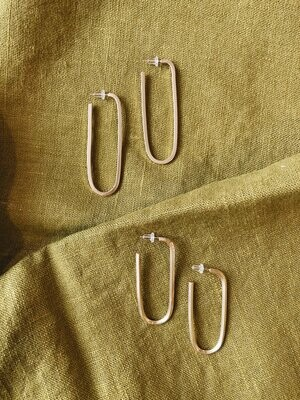 Desert Rose Jewelry - Squared Hoops