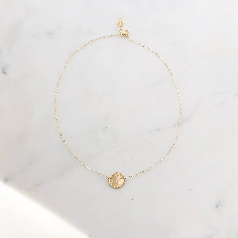 Token Jewelry - Mini Moon Necklace