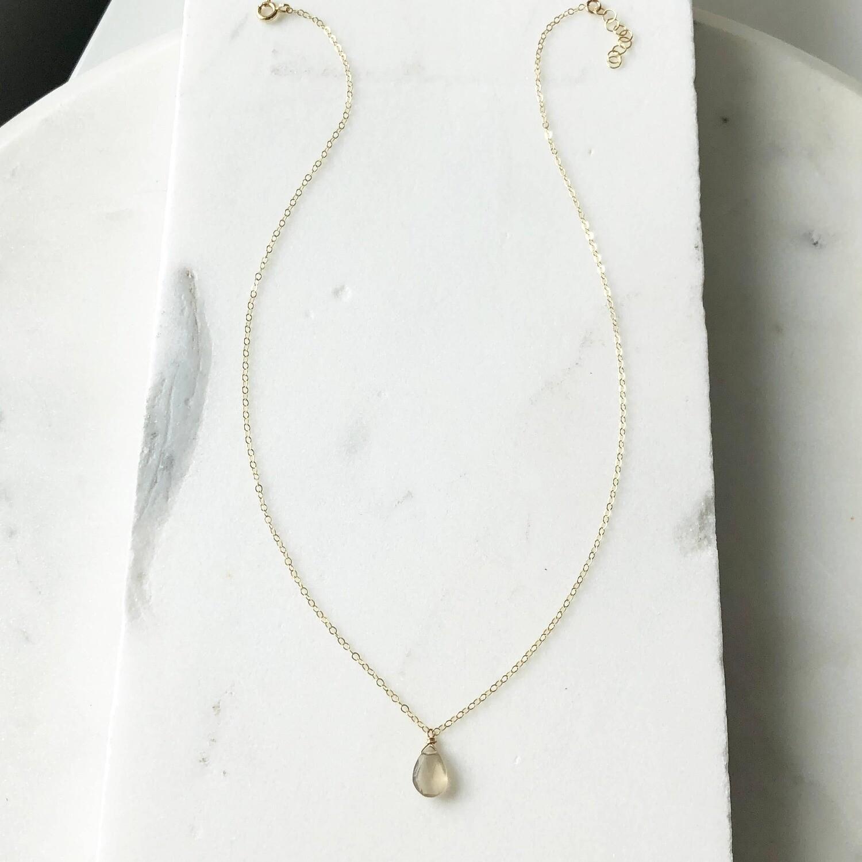 Token Jewelry - Gray Moonstone Necklace