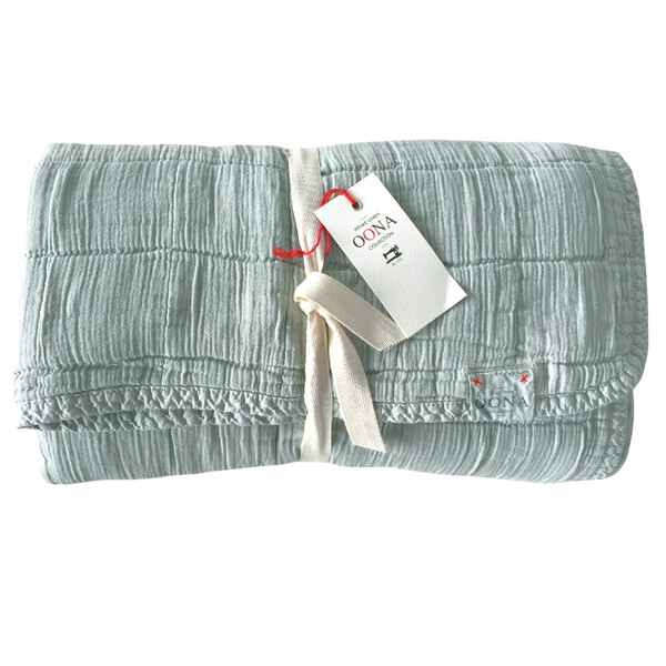 Oona Home - Plaid Cotton Coverlet Queen King