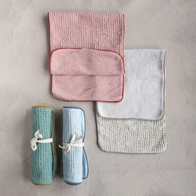 Cotton Waffle Weave + Terry Burp Cloth