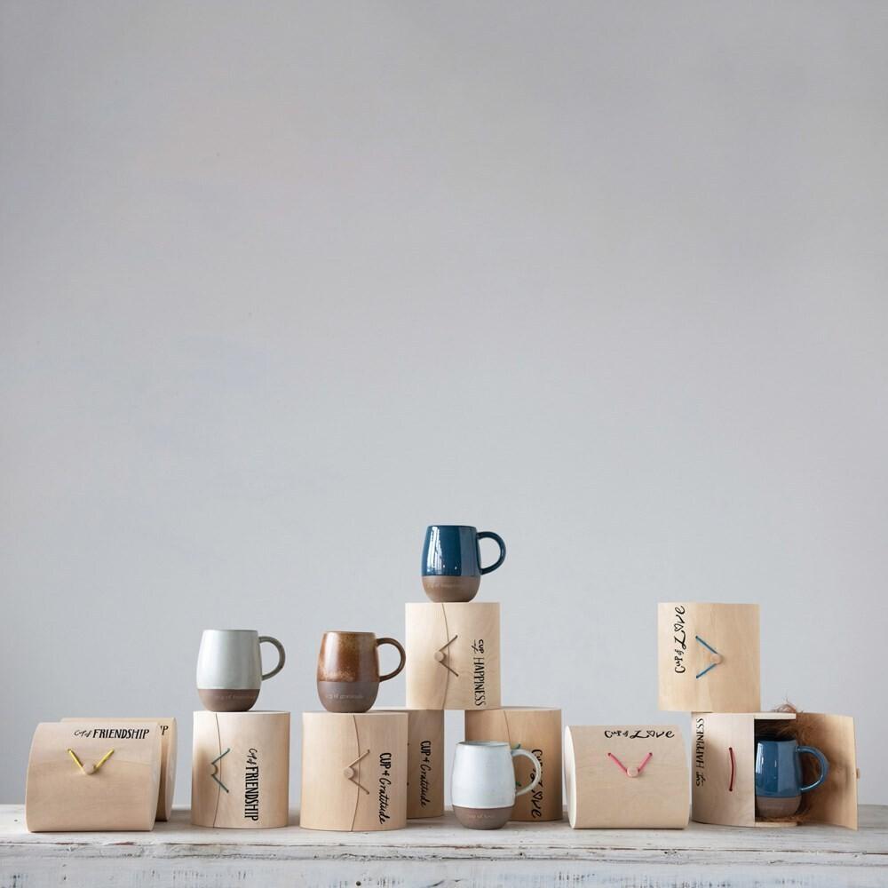 Stoneware Mug w/ Wood Gift Box