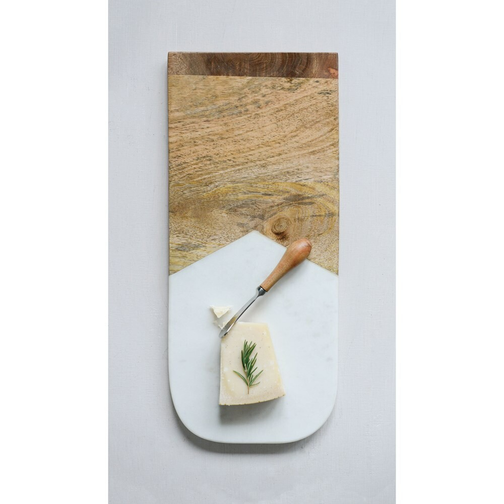 Marble & Mango Wood Board with spreader