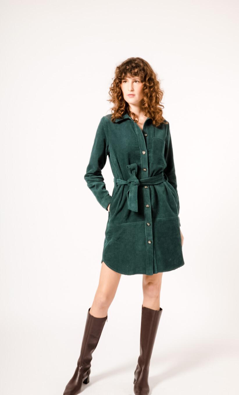 FRNCH - Alouette Dress in Moss