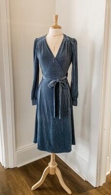 FRNCH - Afton Blue Wrap Dress