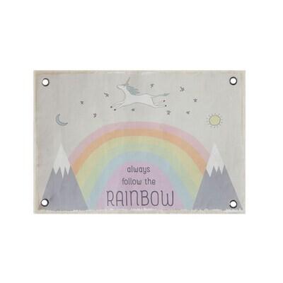 Canvas Wall Decor - Follow the Rainbow