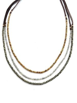 CLP - Stone & Leather Necklace/Bracelet